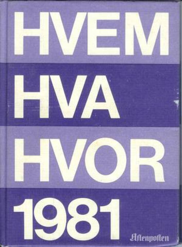 HVEM HVA HVOR 1981