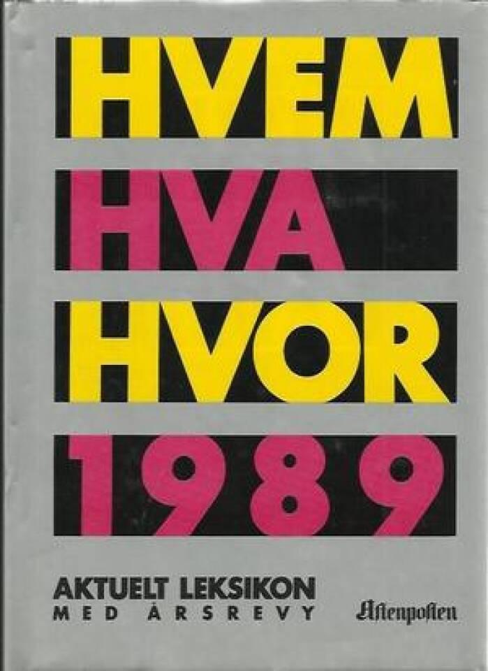 HVEM HVA HVOR 1989