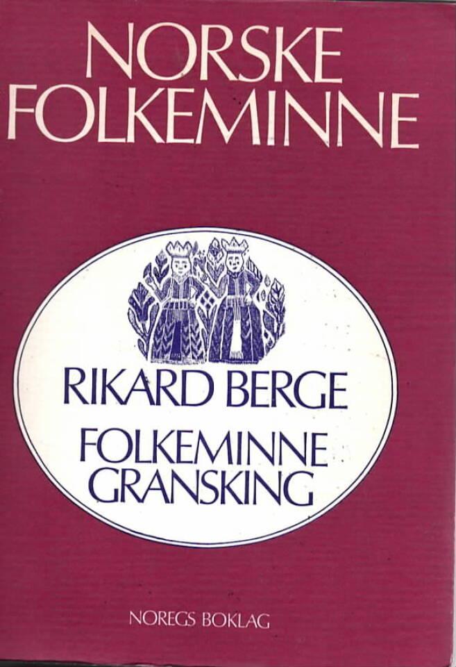 Folkeminnegransking
