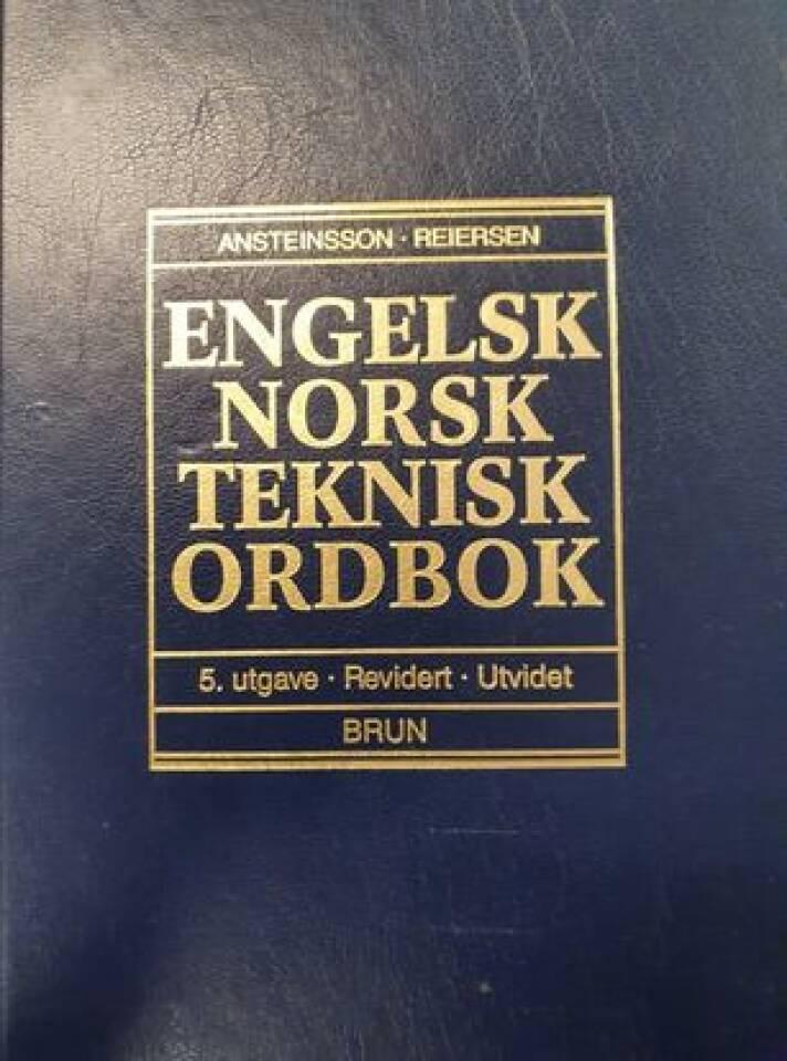 Engelsk norsk teknisk ordbok