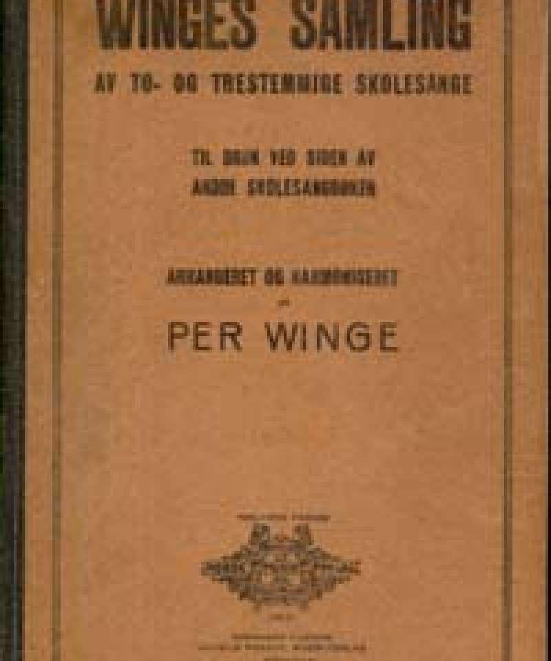 Winges samling av to- og trestemmige skolesange