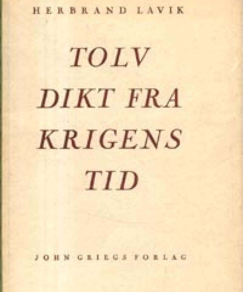 Tolv dikt fra krigens tid