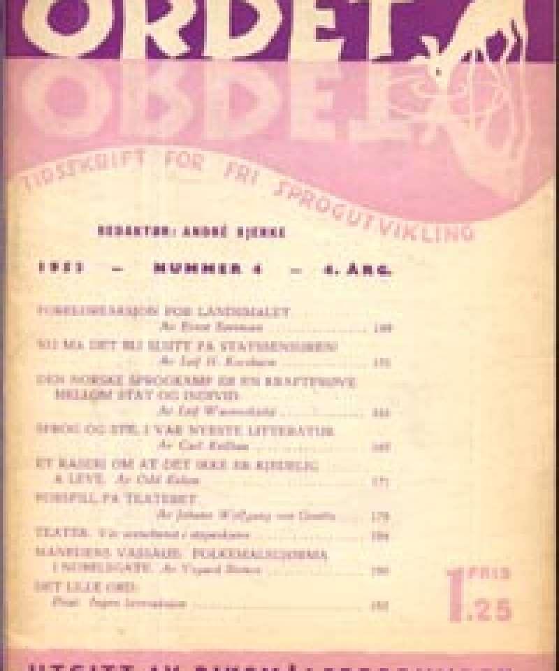 Ordet - Tidsskrift for fri sprogutvikling