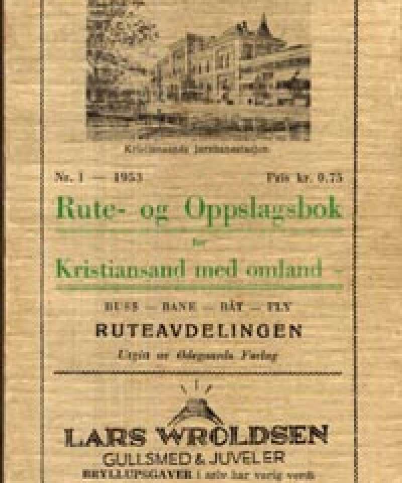Rute- og Oppslagsbok for Kristiansand med omland