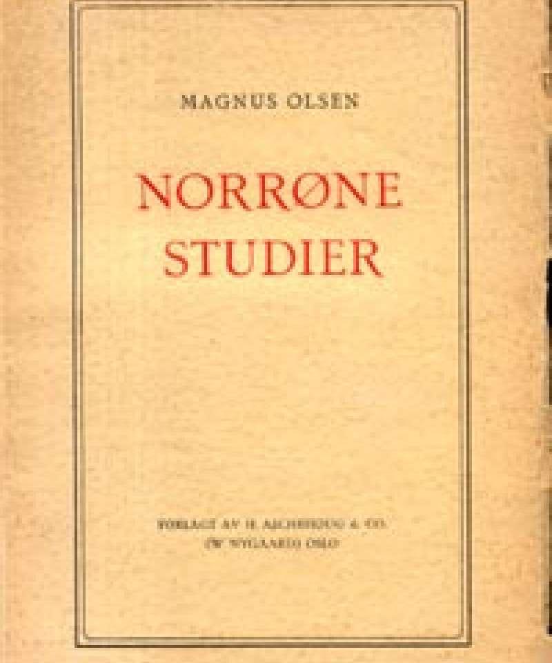Norrøne studier