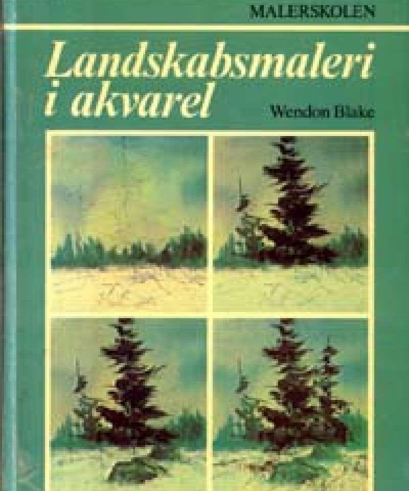 Landskabsmaleri i akvarel