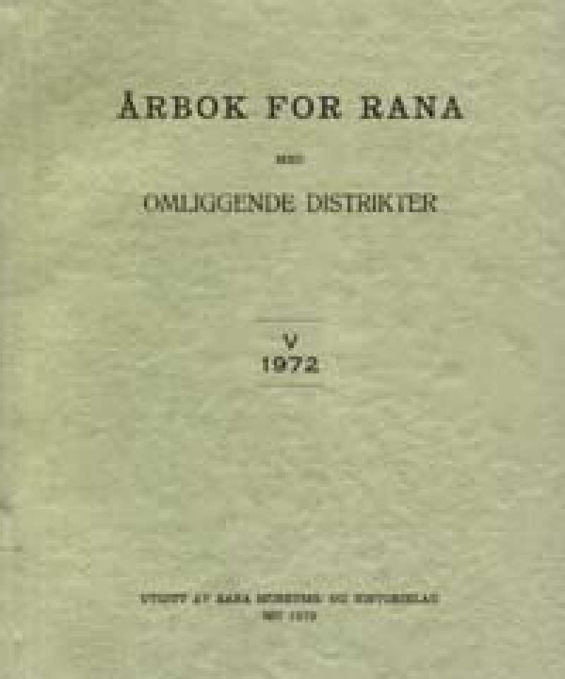 Årbok for Rana med omliggende distrikter