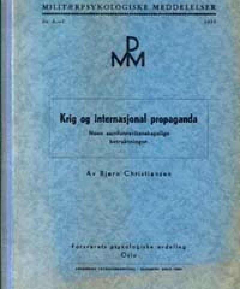 Krig og internasjonal propaganda