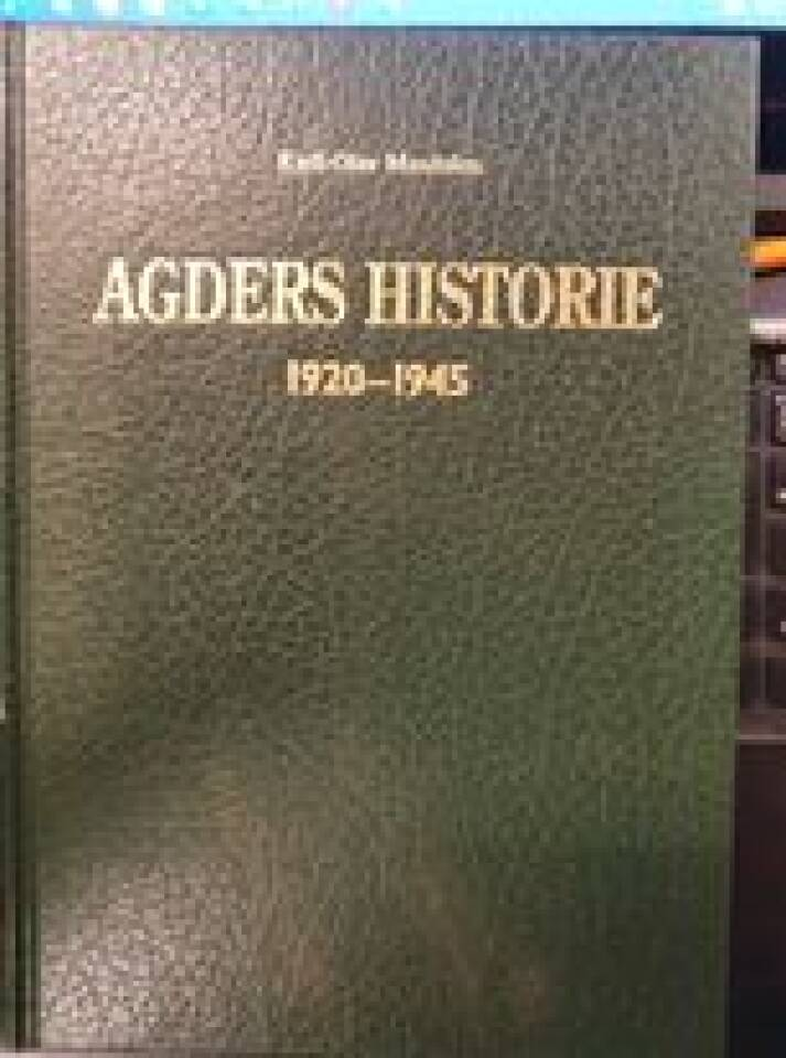 Agders historie 1920-1945