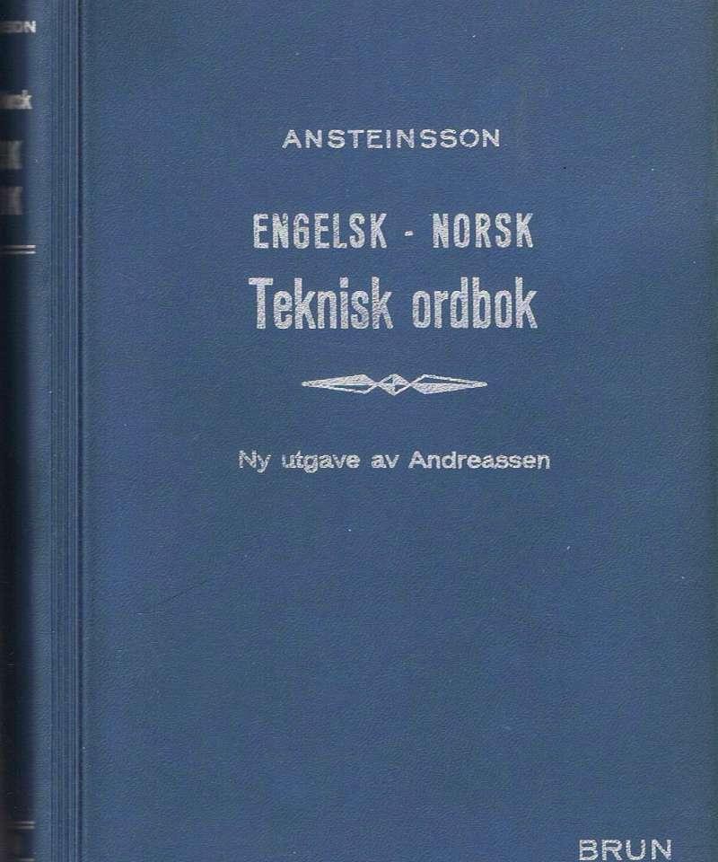Engelsk-Norsk Tekniske Ordbok