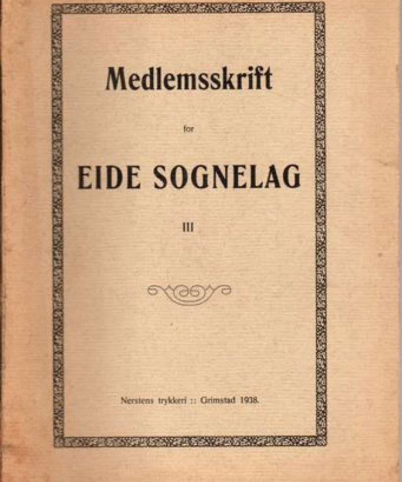 Medlemsskrift for Eide sognelag (1-3)
