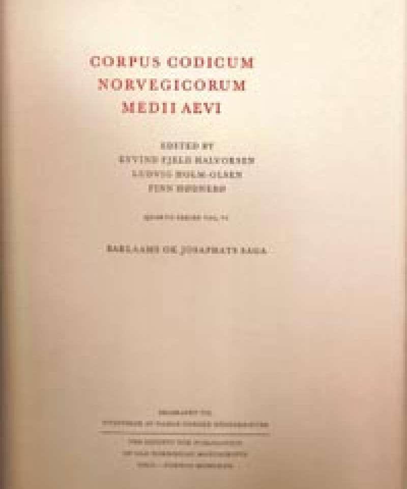 CORPUS CODICUM NORVEGICORUM MEDII AEVI - Barlaams ok Josaphats saga