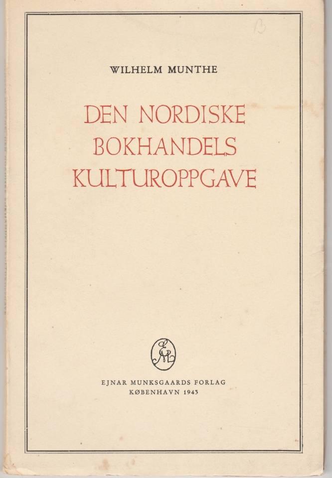 Den nordiske bokhandels kulturoppgave