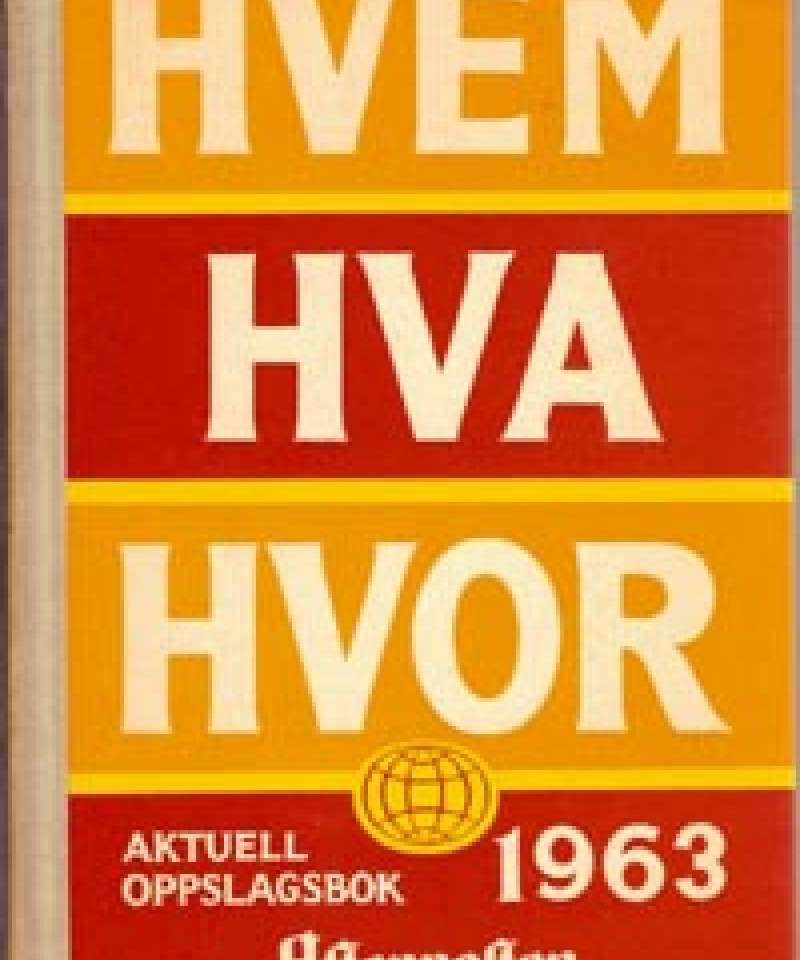 Hvem Hva Hvor 1963