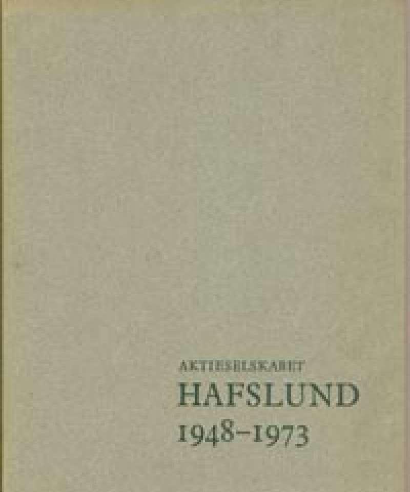 Aktieselskabet Hafslund 1948-1973