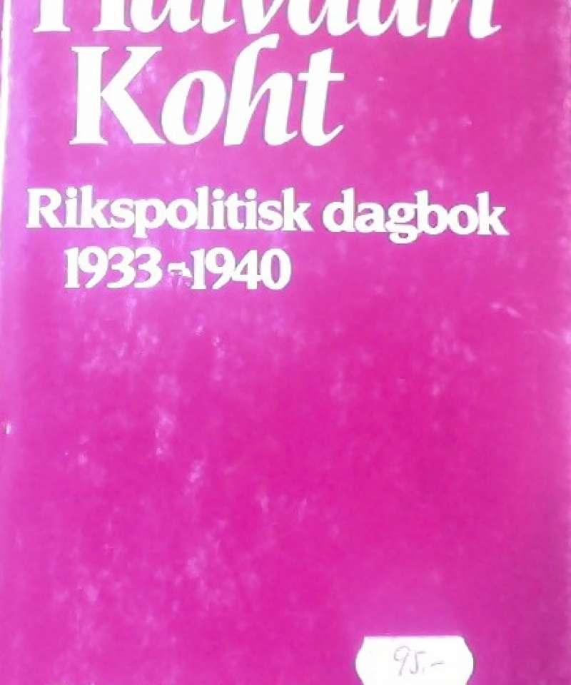 Rikspolitisk dagbok 1933-1940