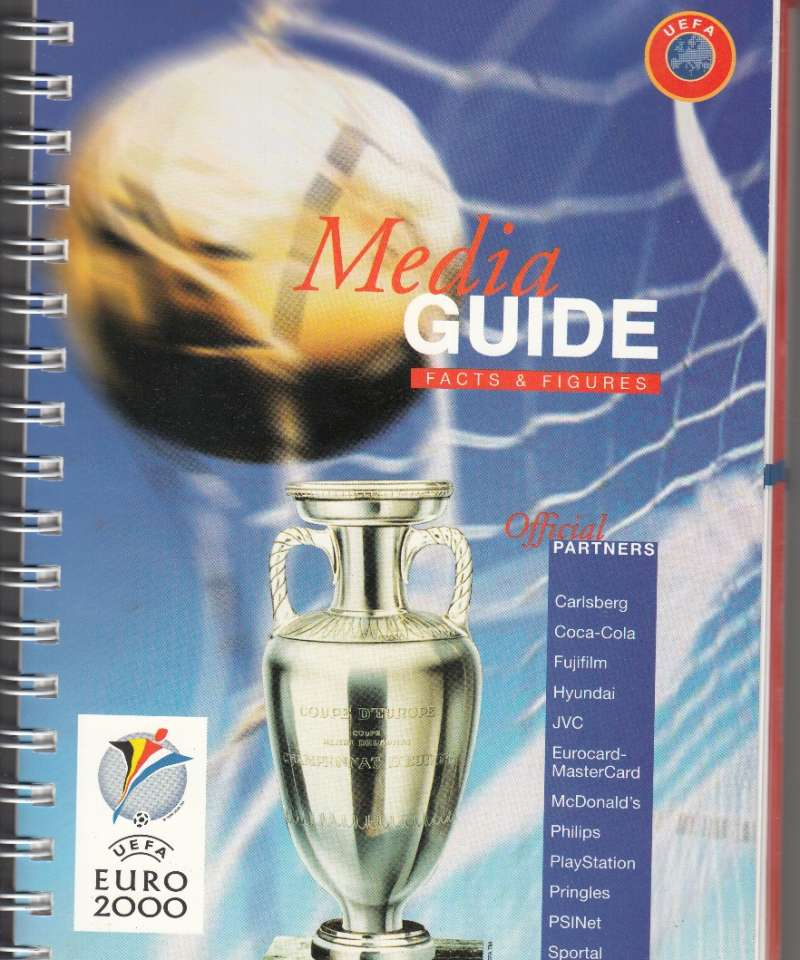 Euro 2000 UEFA (EM i fotball) Media Guide Facts & Figures (Fra Arne Scheies samlinger)