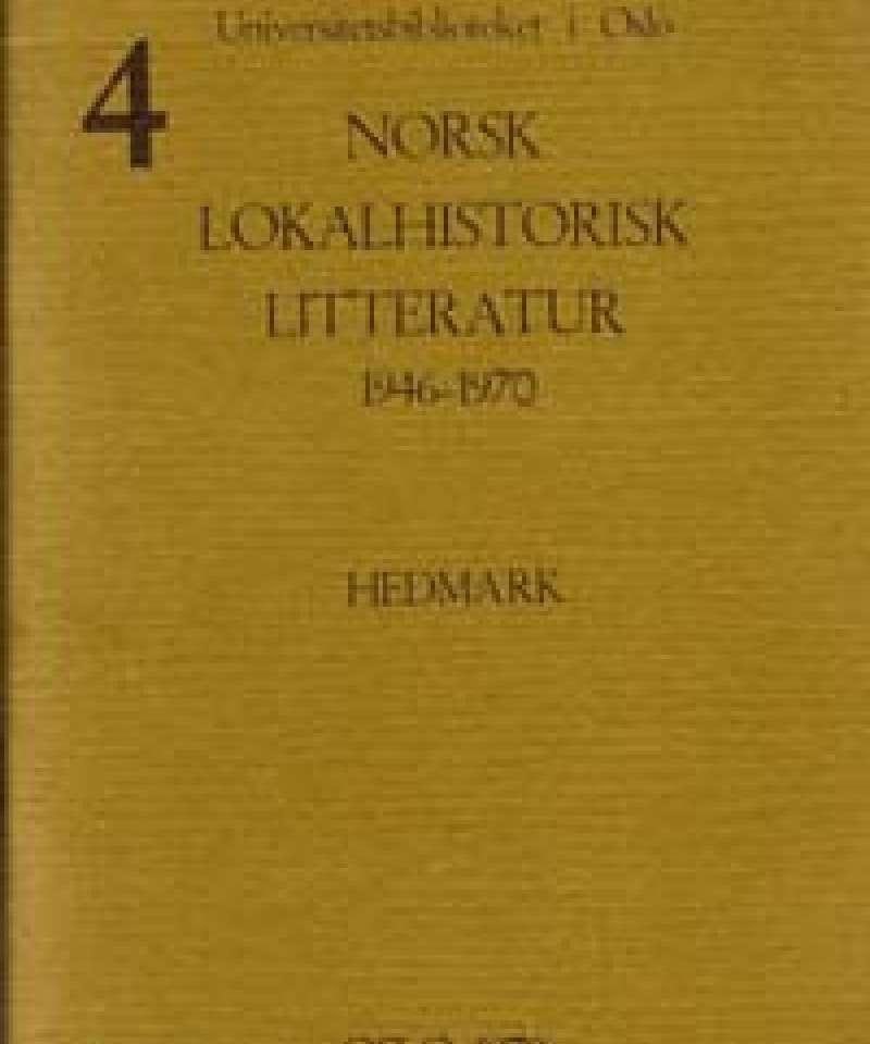 Norsk lokalhistorisk litteratur 1946-1970