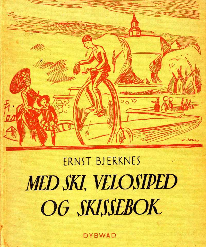 Med ski, velosiped og skissebok