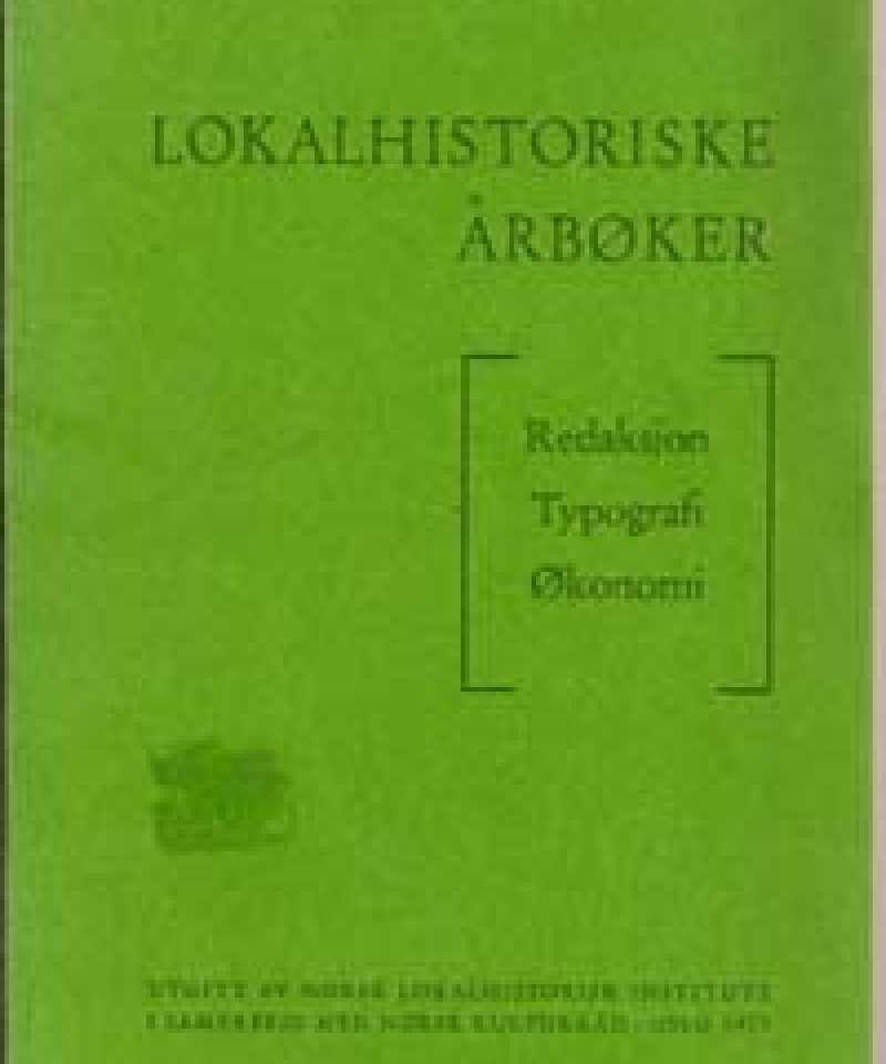 Lokalhistoriske årbøker