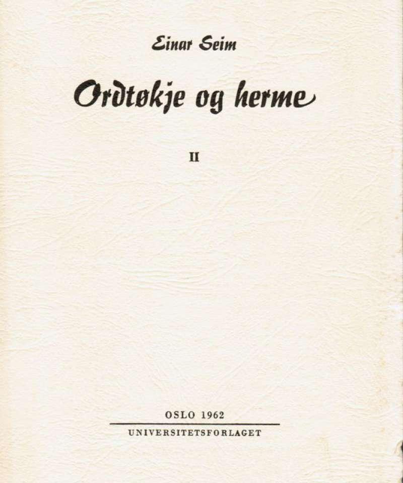 Ordøkje og herme II