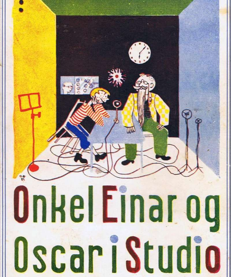 Onkel Einar og Oscar i studio
