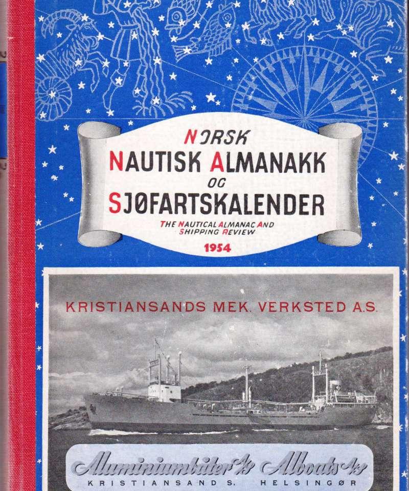 Norsk natusik Almanakk og sjøfartskalender, 1954