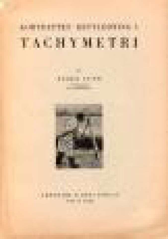 Kortfattet rettledning i Tachymetri.