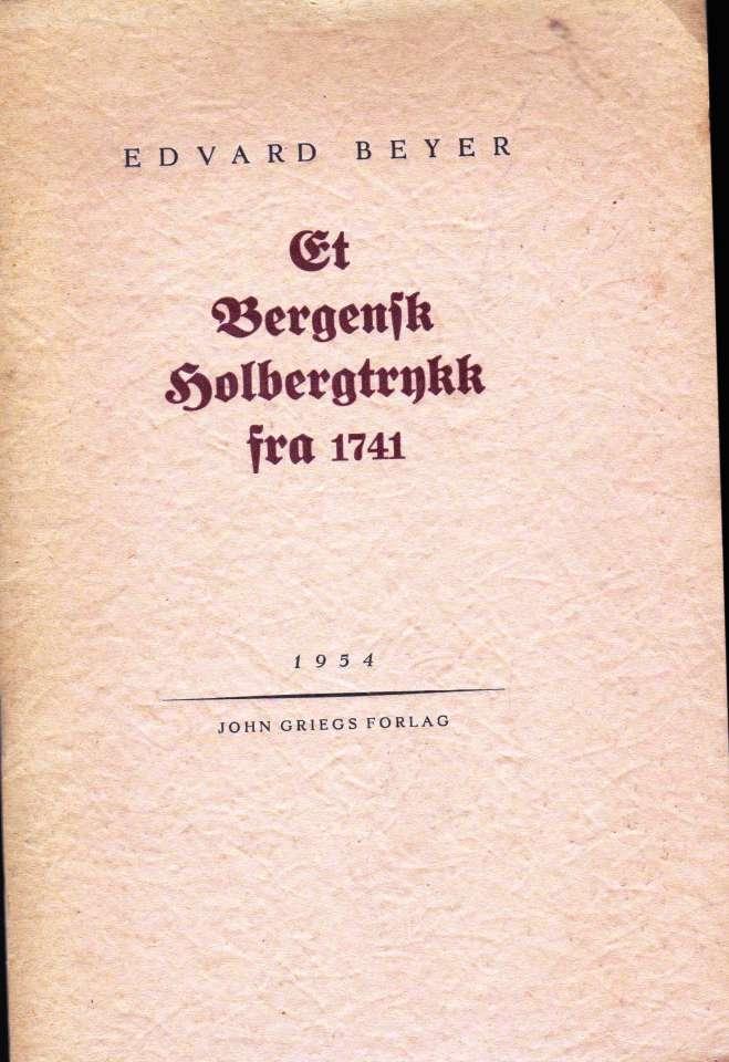 Et Bergensk Holbergtrykk fra 1741