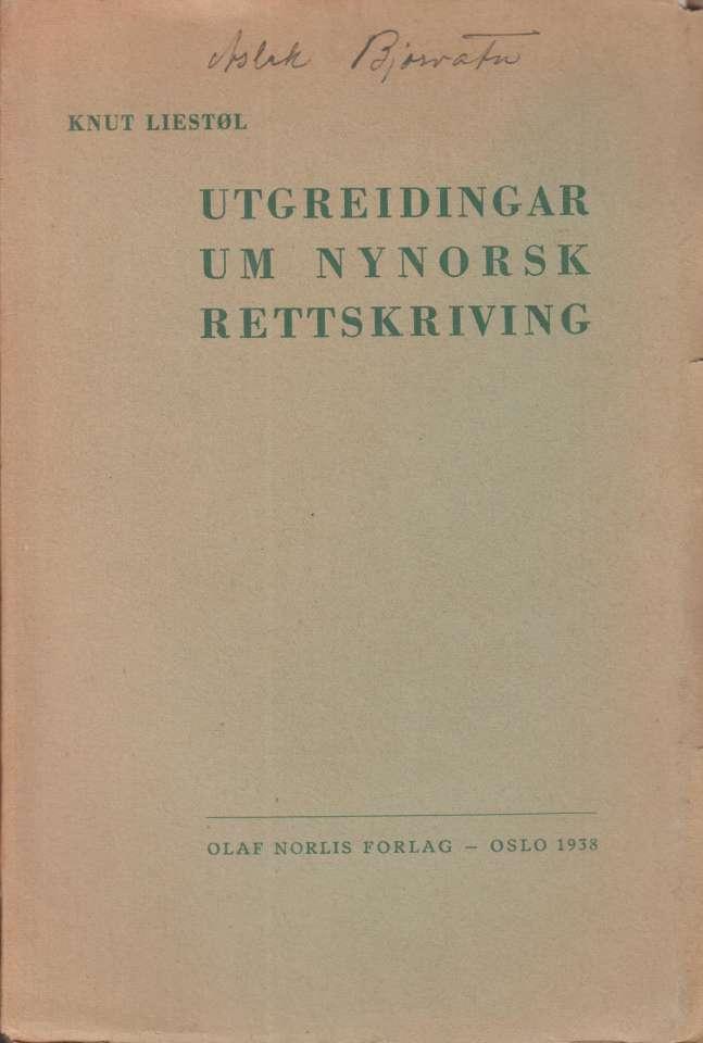 Utgreidingar um nynorsk rettskriving