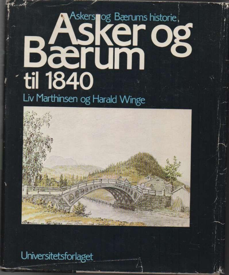 Asker og Bærum til 1840