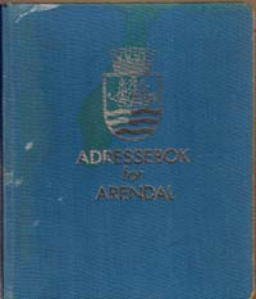 Adressebok for Arendal - Ajourført pr. 1.oktober 1964