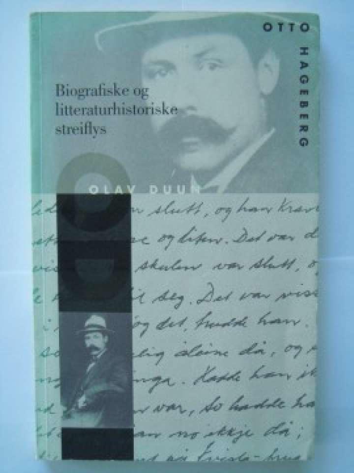Biografiske litteraturhistoriske streiflys