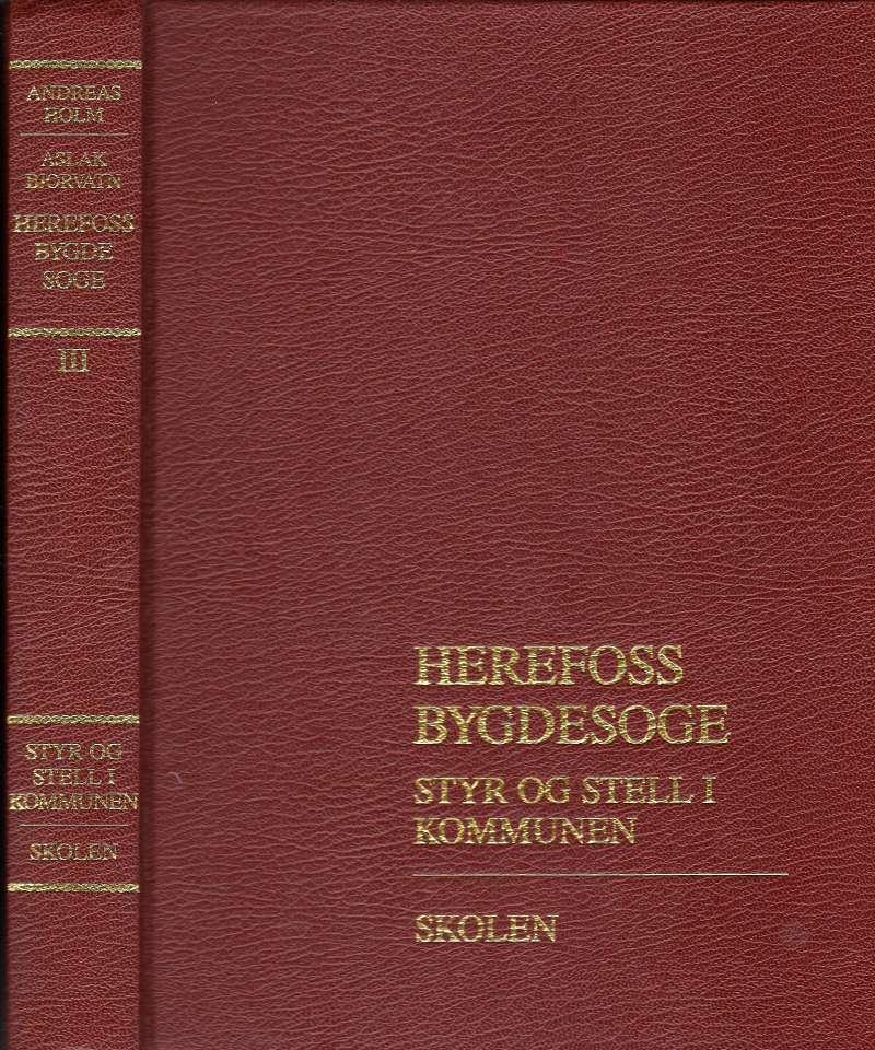 Herefoss Bygdesoge Bind III - Styr og stell i kommunen- Skolen