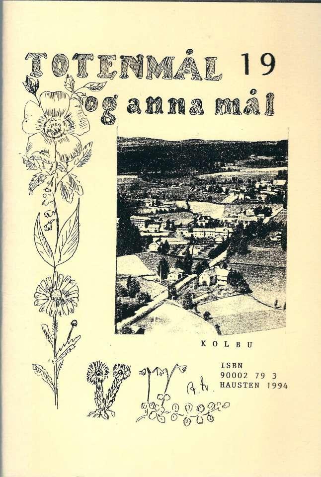 Totenmål og anna mål 19 - Høst 1994