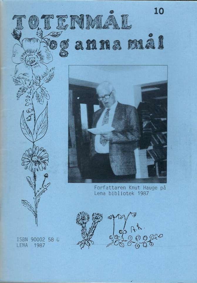 Totenmål og anna mål 10 - Høst 1987