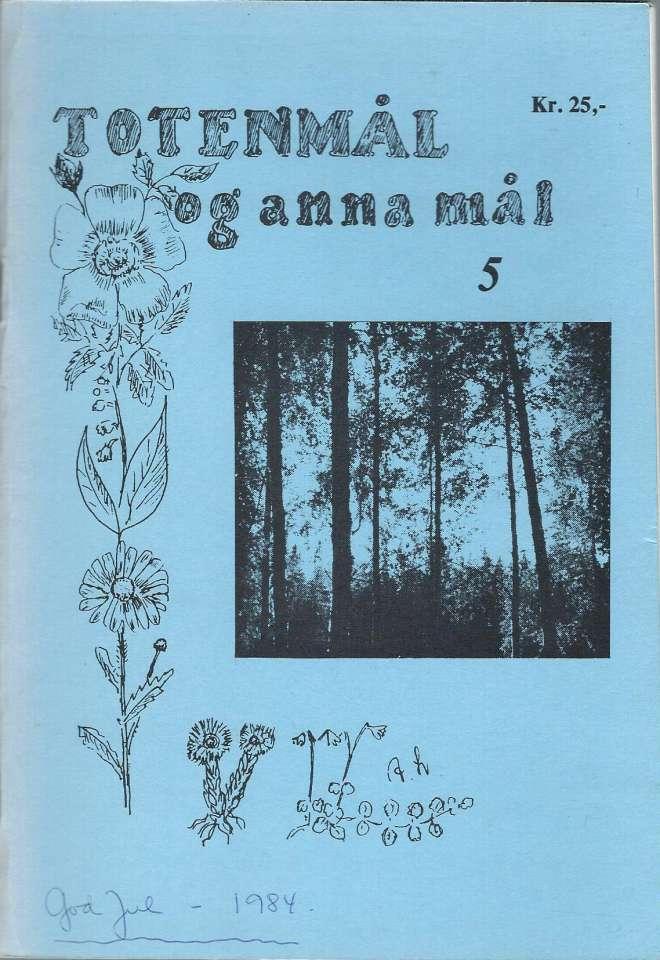 Totenmål og anna mål 5 - Høst 1984