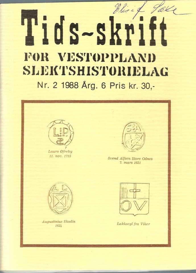 Tidsskrift for Vestoppland Slektshistorielag Nr.2. 1988