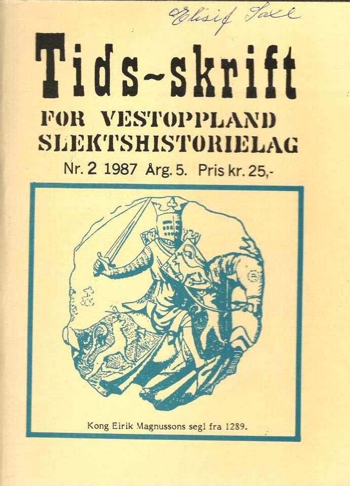 Tidsskrift for Vestoppland Slektshistorielag Nr.2. 1987