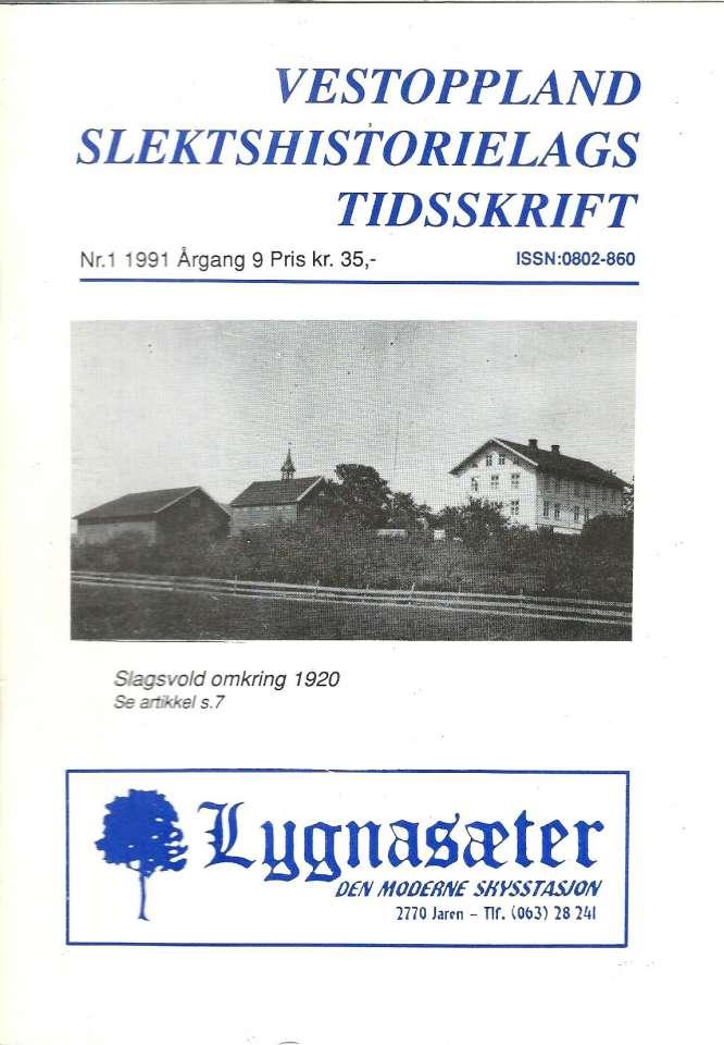 Vestoppland Slektshistorielags Tidsskrift Nr.1 1991
