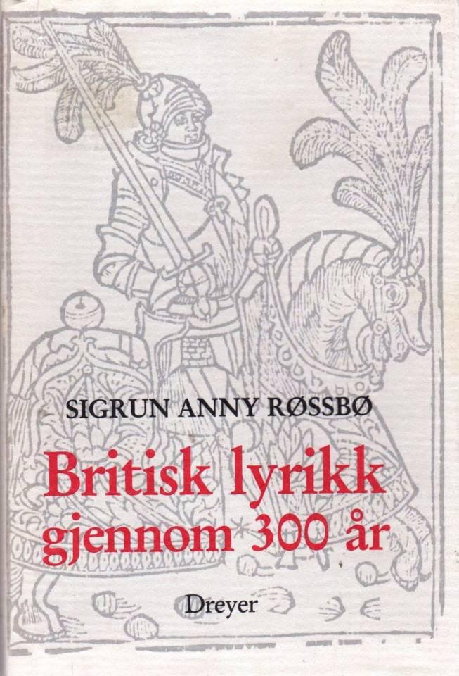 Britisk lyrikk gjennom 300 år