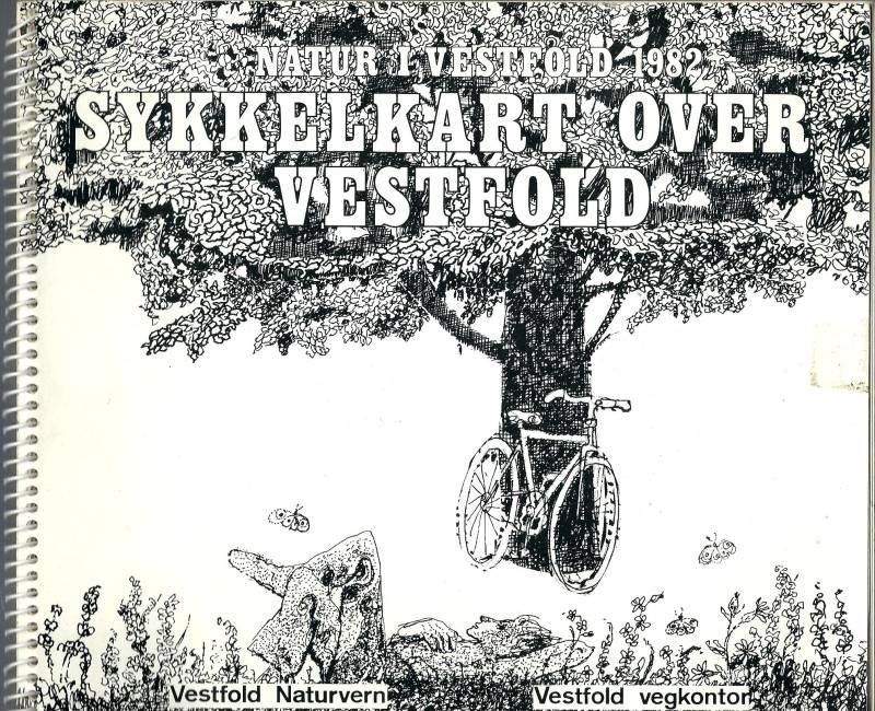 Sykkelkart over Vestfold - Natur i Vestfold 1982