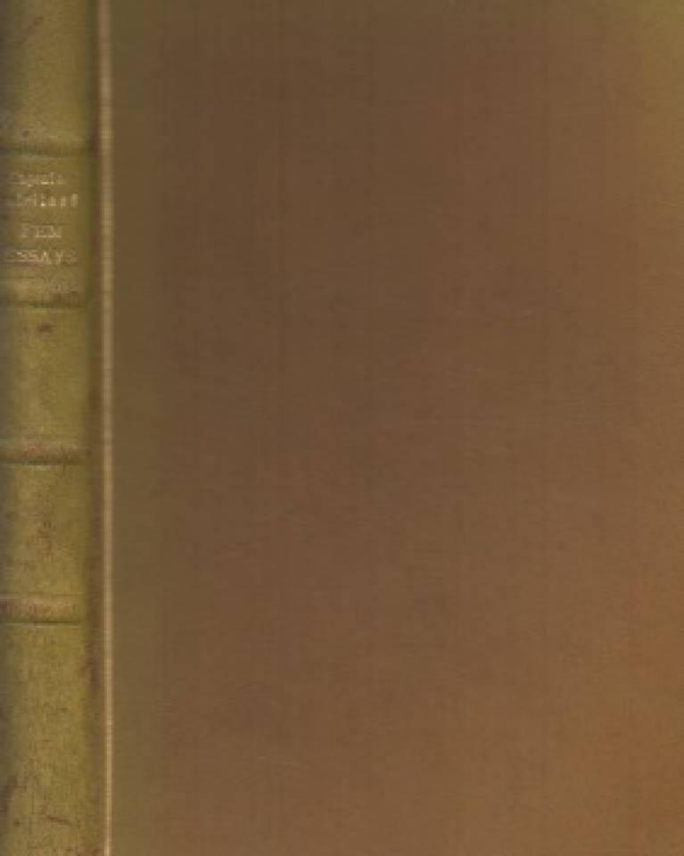 Fem essays om moderne norsk literatur